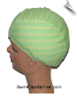 Granny Apple Stripe Lycra Swim Cap (SKU: 1106)
