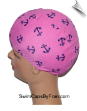 Anchors Away Lycra Swim Cap