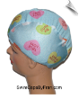 Conversation Candy Hearts Lycra Swim Cap (SKU: 1124)