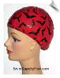 Bat Frenzy Lycra Swim Cap