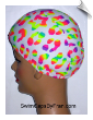 "Extra Large ""Little Dab Of Neon"" Lycra Swim Cap (XL) (SKU: 1150-XL)"