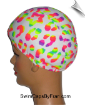 """A Little Dab Of Neon"" Lycra Swim Cap (SKU: 1150)"