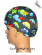 Mini Buses, Cars & Trucks Lycra Swim Cap (SKU: 1153)