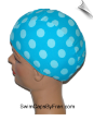 Toddler Robins Eggs Polka Dot Lycra Swim Cap (SKU: 1407-T)
