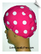 Extra Large Polka Dot Lycra Swim Cap (XL) (SKU: 1414-XL)