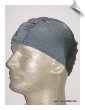 Mens Gray Lycra Swim Cap