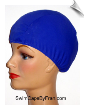 Extra Extra Large Royal Blue SWIRL Lycra Swim Cap (XXL) (SKU: 1062-XXL)