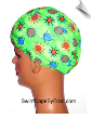 Green Sunshine Lycra Swim Cap
