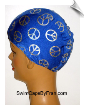 Royal Blue Peace Sign Toddler Lycra Swim Cap (SKU: 1137-T)