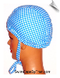 Toddler Gingham Check Lycra Swim Cap With Ties (SKU: 1213-TIES)