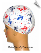 Anchors Print Lycra Swim Cap