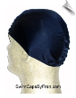 Mens Navy Blue Lycra Swim Cap (SKU: 1001-M)