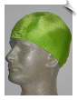 Mens Electric Lime Green Lycra Swim Cap