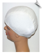 Toddler White Ribbed Lycra Swim Cap (SKU: 1035-T)