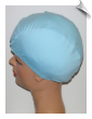 Extra Large Powder Blue Lycra Swim Cap (XL) (Matte Finish) (SKU: 1052-XL)
