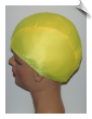 Extra Large Sunshine Yellow Lycra Swim Cap (XL) (SKU: 1015-XL)