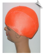 Kids Neon Orange Lycra Swim Cap (SKU: 1009-K)