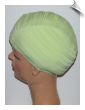 Extra Large Celery Green Ribbed Lycra Swim Cap (XL) (SKU: 1018-XL)