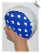 Extra Large Hearts On Blue  Lycra Swim Cap (XL) (SKU: 1107-XL)