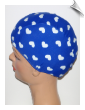 Extra Large Hearts On Blue Lycra Swim Cap (XL) (SKU: 1101-XL)