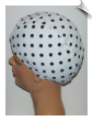 Extra Large Polka Dot Lycra Swim Cap (XL) (SKU: 1400-XL)