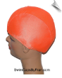 XXX Large Neon Orange Lycra Swim Cap (SKU: 1009-XXXL)