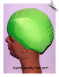 Kids Neon Green Lycra Swim Cap (SKU: 1014-K)