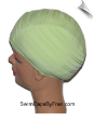 Extra Large Celery Green Ribbed Lycra Swim Cap (XL)