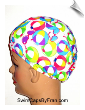Beach Balls Print Toddler Lycra Swim Cap (SKU: 1159-T)