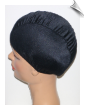 how to put on a swim cap with thick hair